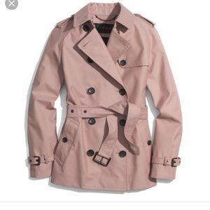 Coach short trench in pink, Large
